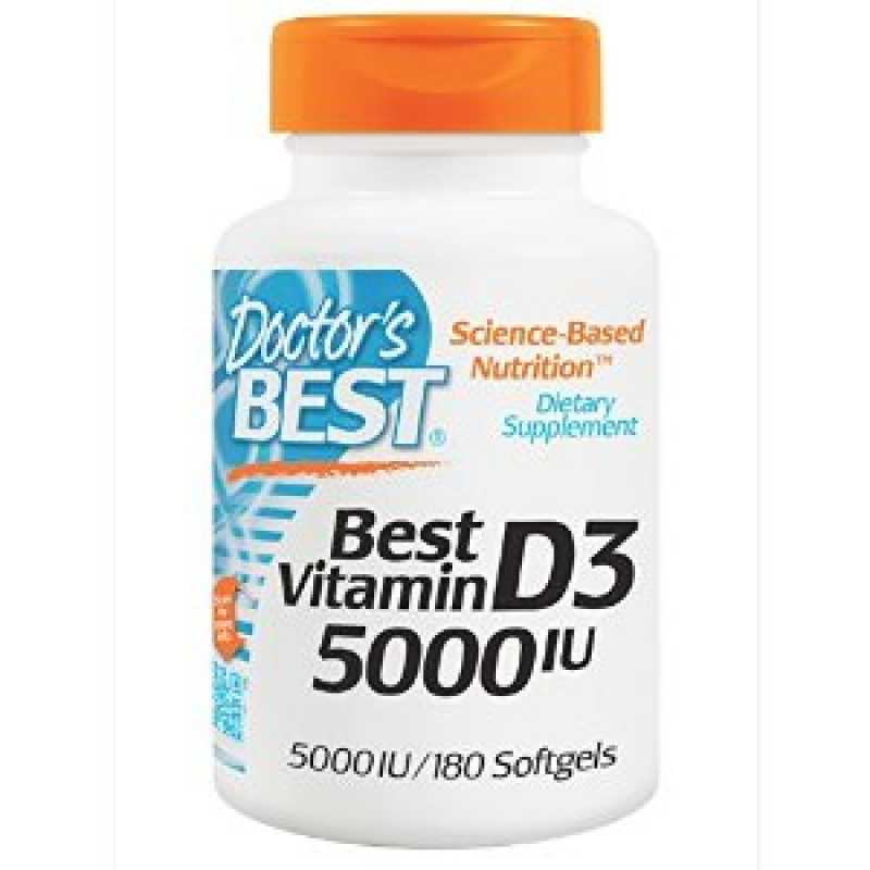 Doctor's Best Vitamin D3 5000iu - 180 Softgels