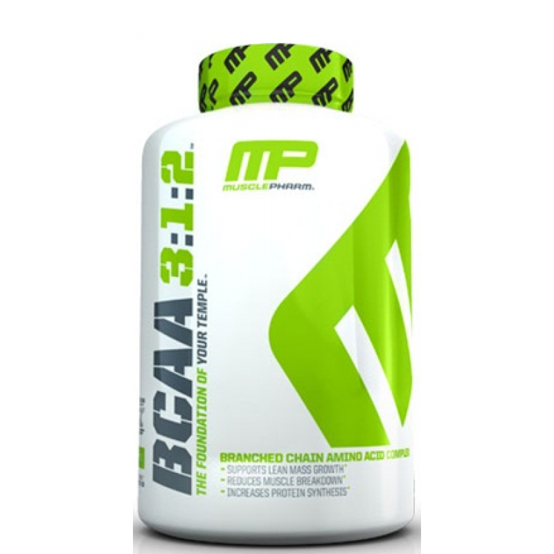 MusclePharm BCAA 3:1:2 支链氨基酸 - 240粒