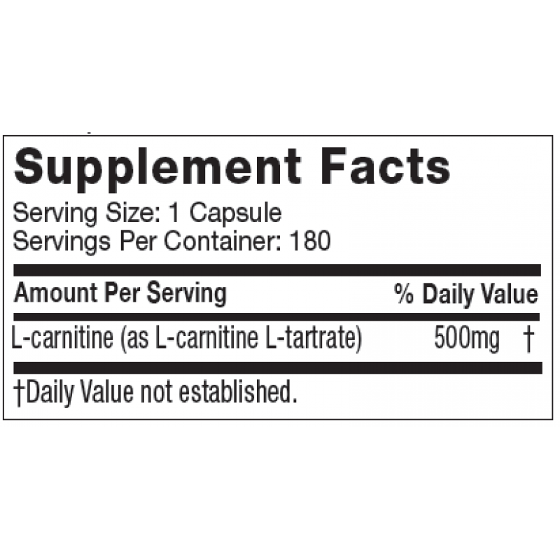 MuscleTech Platinum 100% Carnitine 白金左旋肉鹼 - 180粒