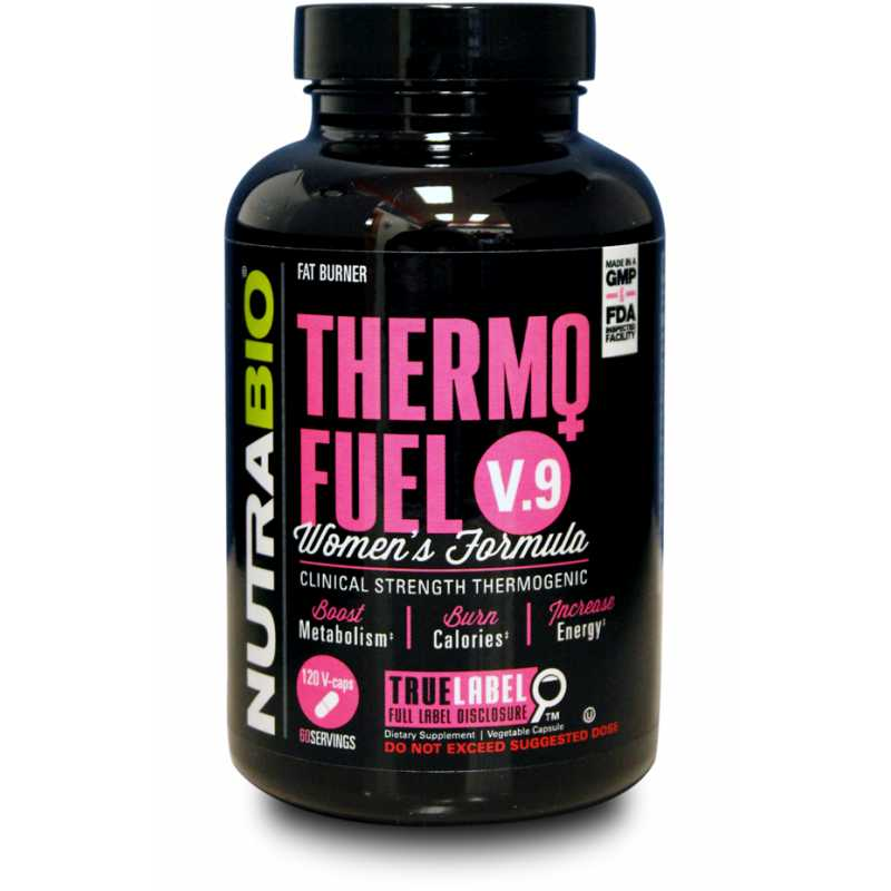 NutraBio ThermoFuel V9 for Women's - 180 Vegetable Capsules