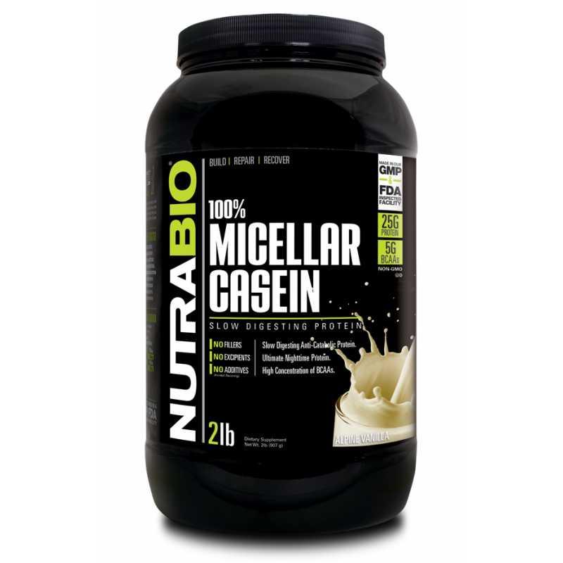 NutraBio 100% Micellar Casein - 2lb
