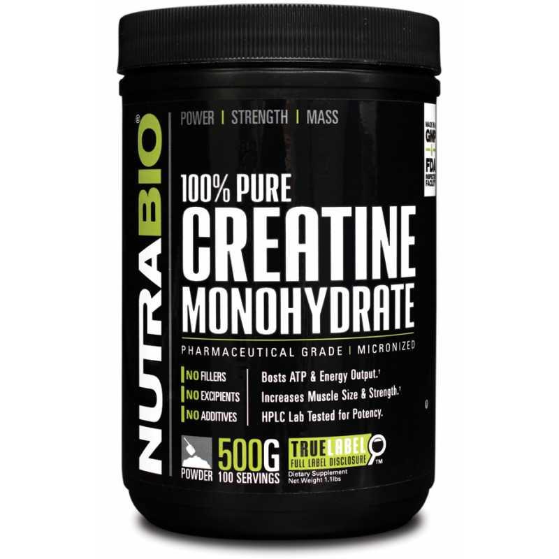 NutraBio Creatine Monohydrate - 500g