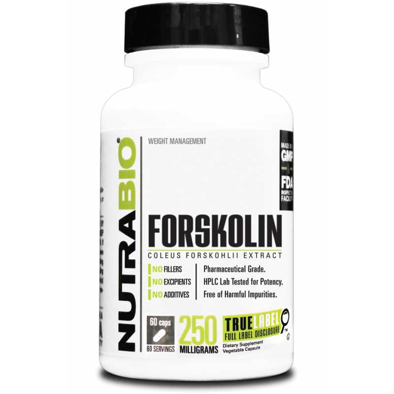 NutraBio Forskolin - 60 Vegetable Capsule