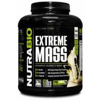 NutraBio Extreme Mass 至尊增重粉 - 6磅