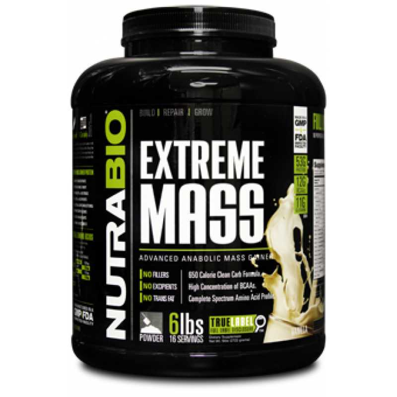NutraBio Extreme Mass - 6lb