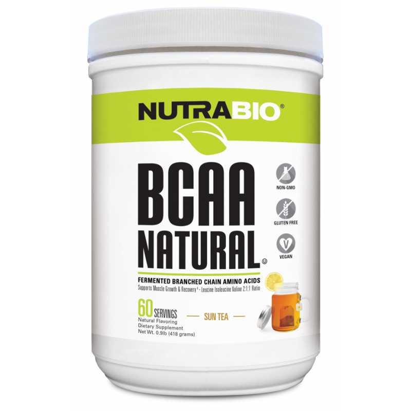 NutraBio BCAA Natural Powder - 60 Servings