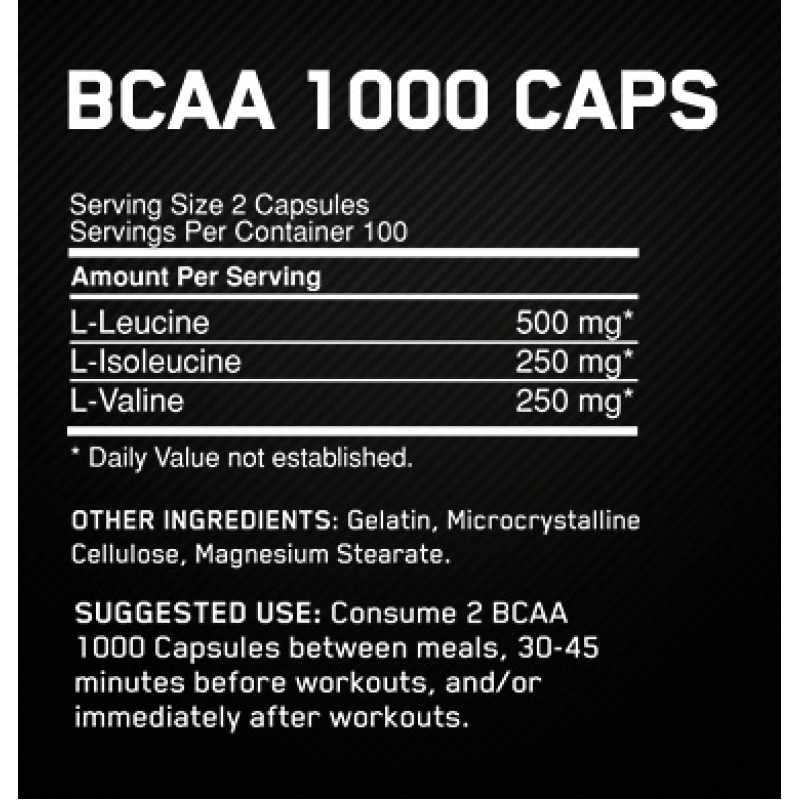Optimum Nutrition BCAA - 400 Capsules