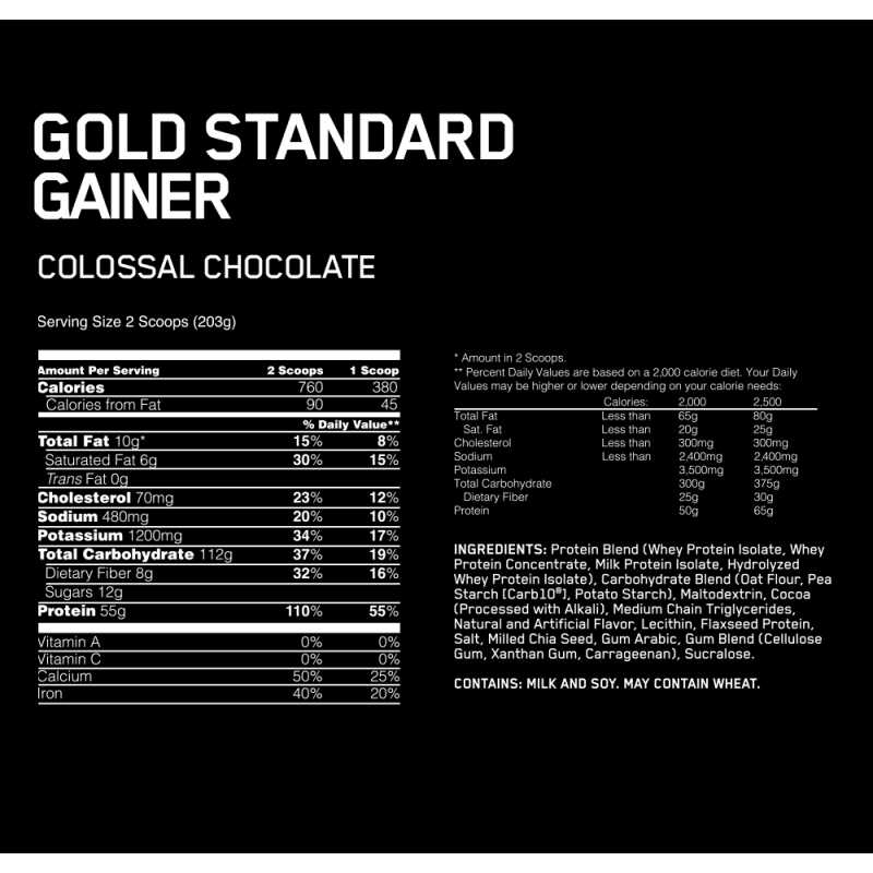 Optimum Nutrition Gold Standard Gainer - 10.29lbs