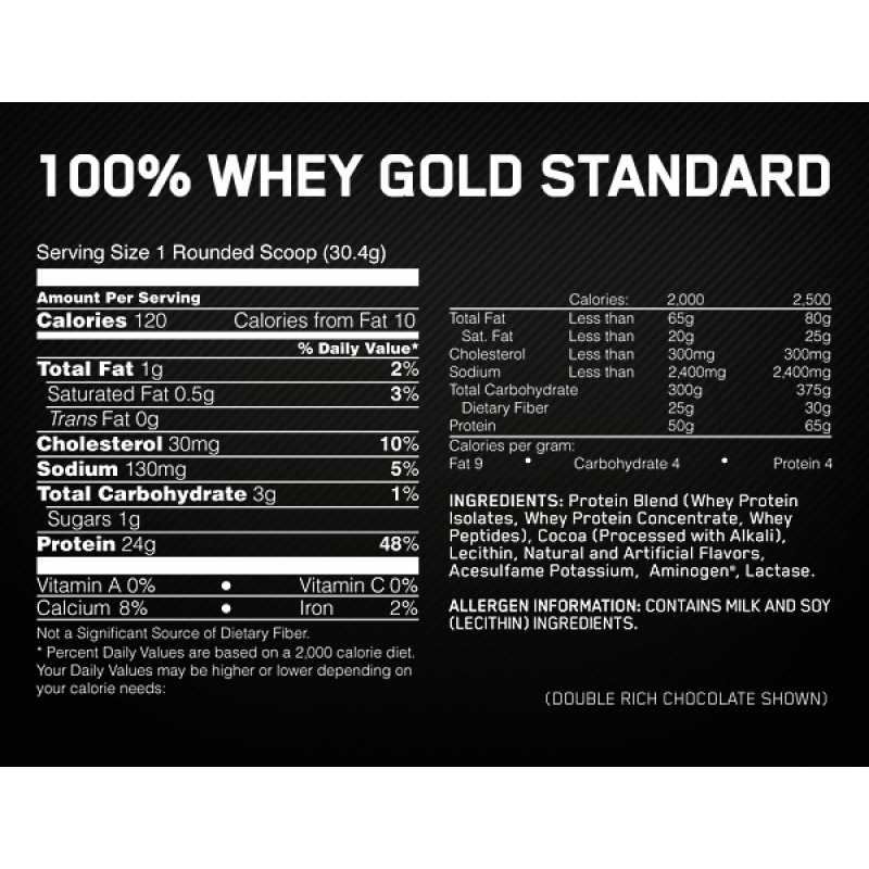 Optimum Nutrition Gold Standard 100% Whey Protein - 10lbs