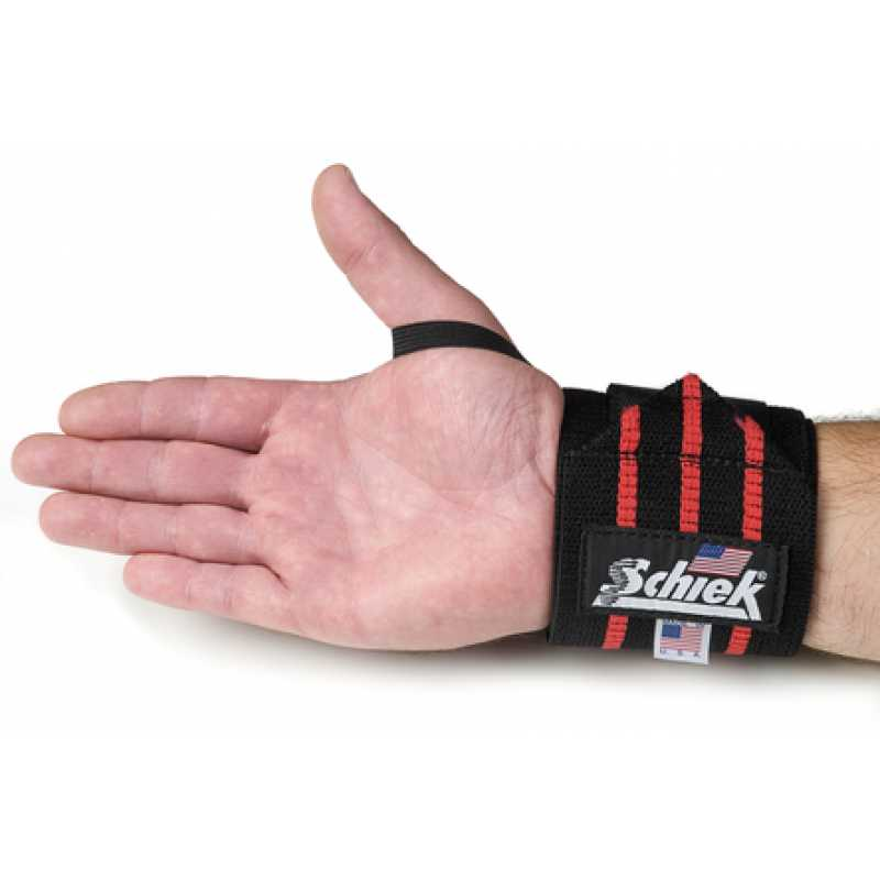 Schiek Wrist Wraps-Black - 12 inches