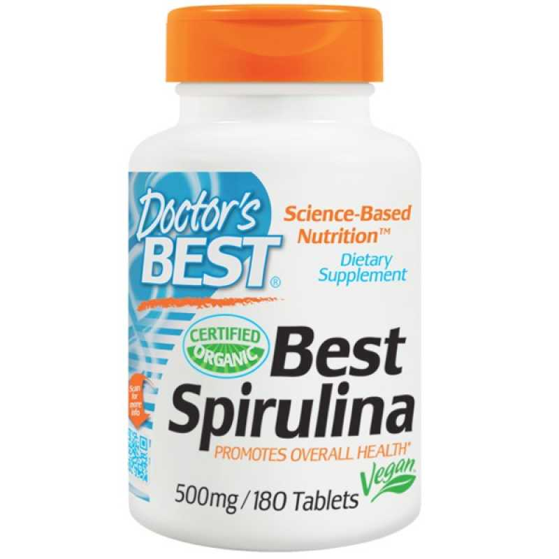Doctor's Best Spirulina - 180 Tablets