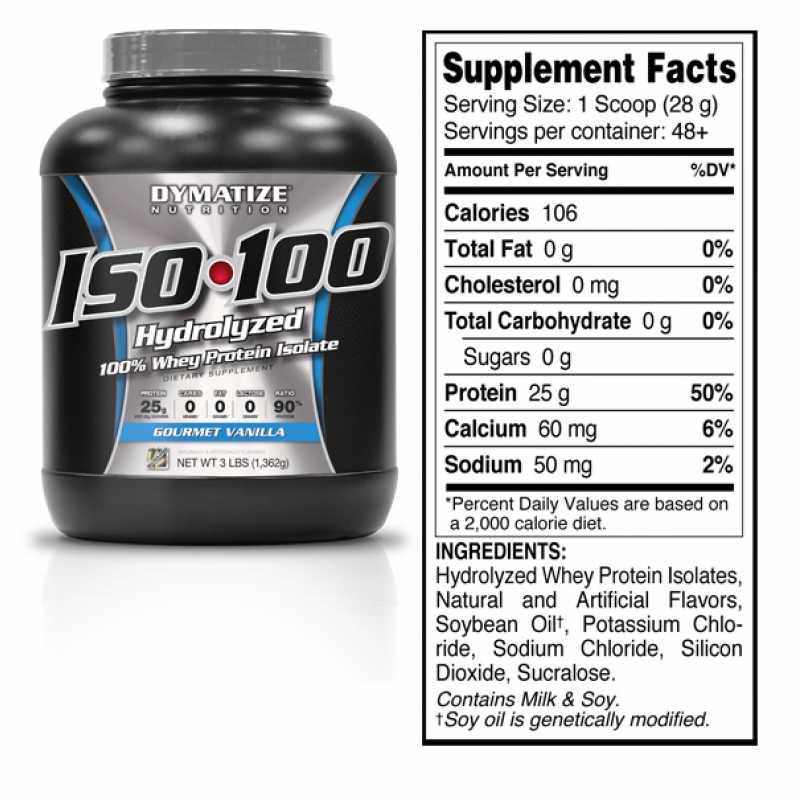 Dymatize Nutrition ISO100 狄马泰斯分离乳清蛋白粉 - 5磅