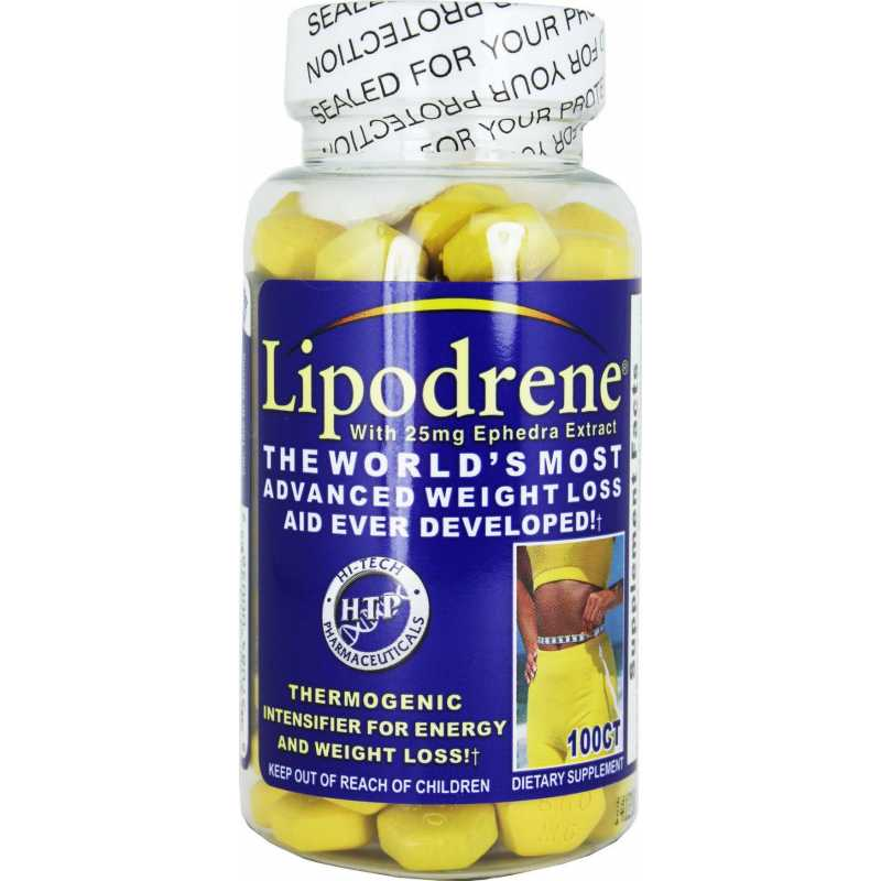 Hi-Tech Pharmaceuticals Lipodrene - 100 Tablets