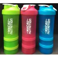 Macau Nutrition 3 in 1 Compartment Shaker - 500ml
