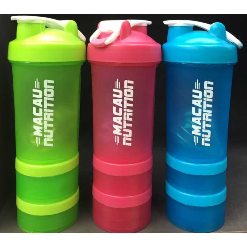 Macau Nutrition 3 in 1 Compartment Shaker 3合1蛋白粉搖杯 - 500毫升