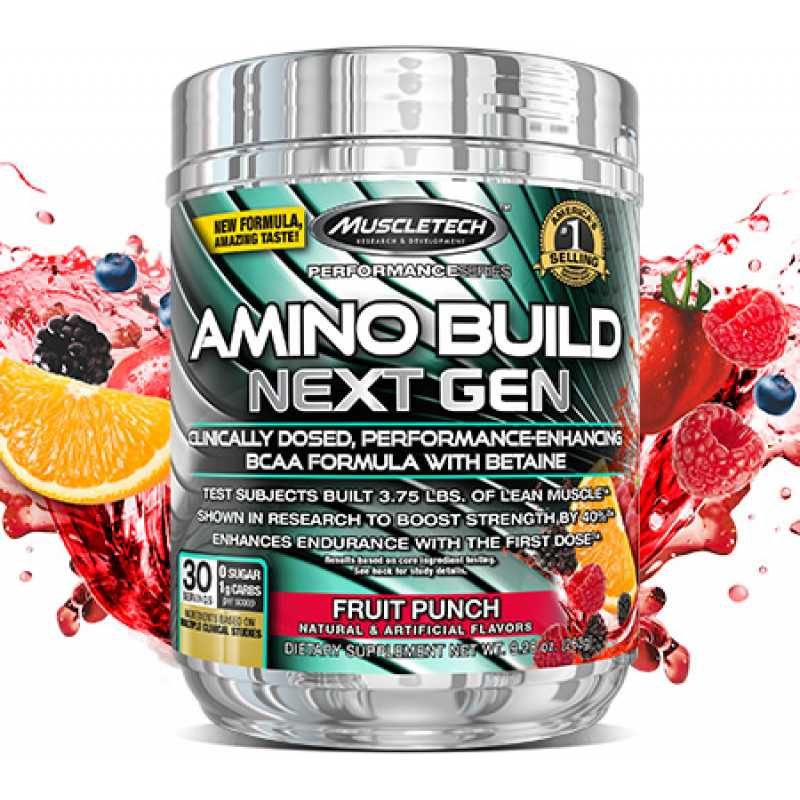 MuscleTech Amino Build Next Gen 白金支鏈氨基酸 - 30份