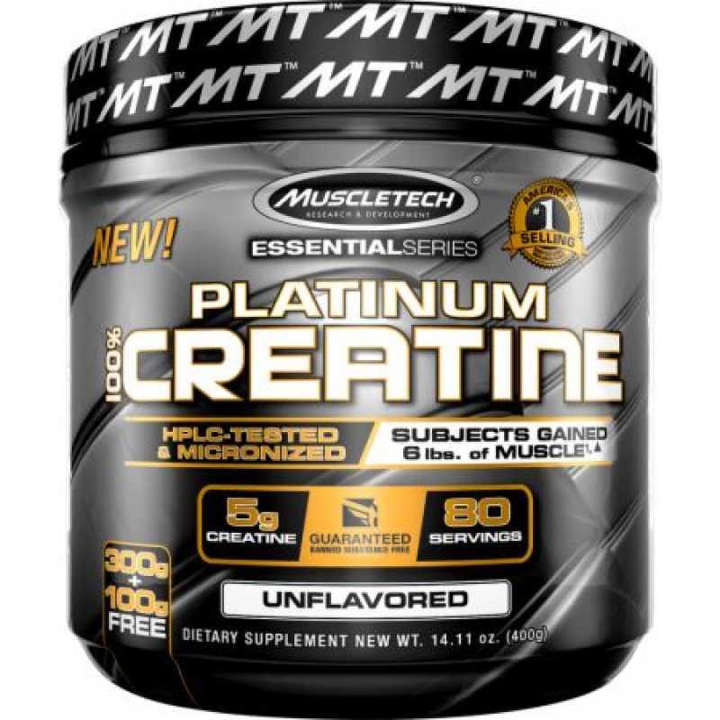 MuscleTech Platinum 100% Creatine 白金一水肌酸 - 80份