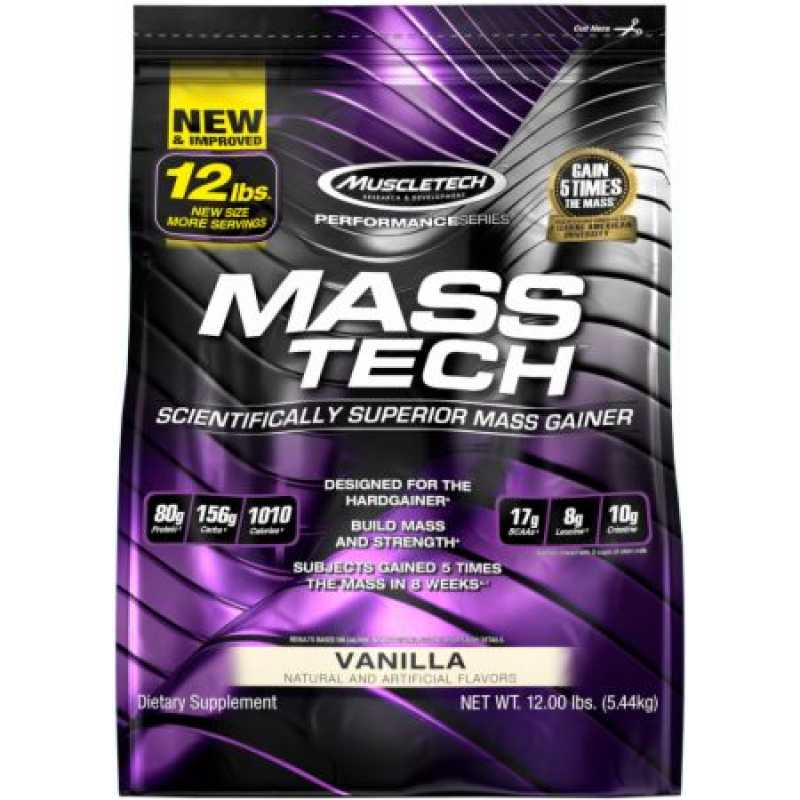 MuscleTech Mass Tech 增重粉 - 12磅