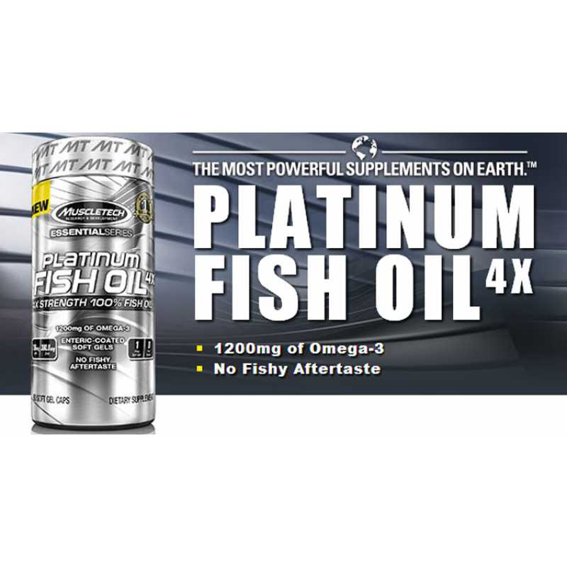MuscleTech Platinum 100% Fish Oil 白金魚油 - 100粒