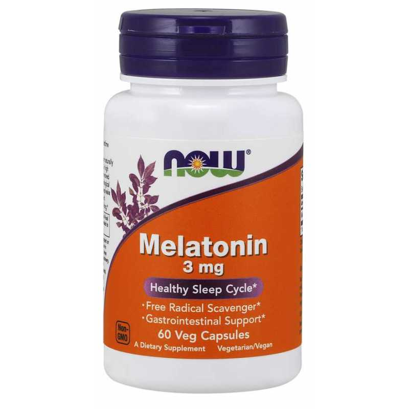 Now Food Melatonin 3mg - 60 Capsules