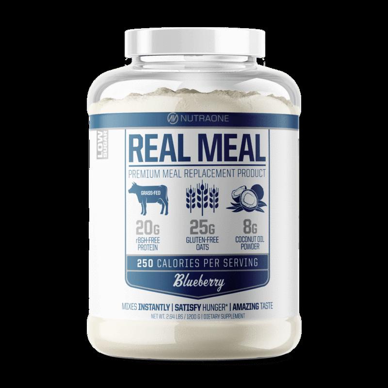 NutraOne Real Meal 代餐蛋白粉 - 2.64磅