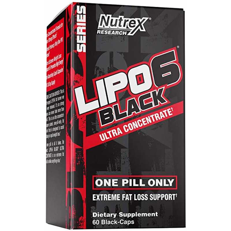 Nutrex Research Lipo 6 Black Ultra Concentrate 濃縮版燒脂丸 - 60粒
