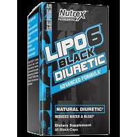 Nutrex Research Lipo-6 Diuretic 利尿劑 - 80粒黑色膠囊