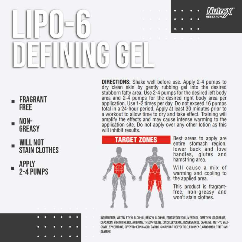 Nutrex Research Lipo6 Defining Gel 减脂凝胶 - 120毫升
