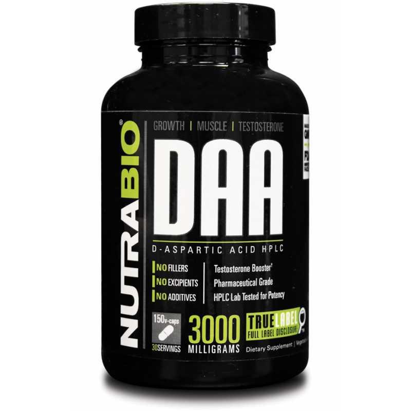 NutraBio D-Aspartic Acid (600mg) 冬氨酸 (600毫克) - 150粒蔬菜胶囊
