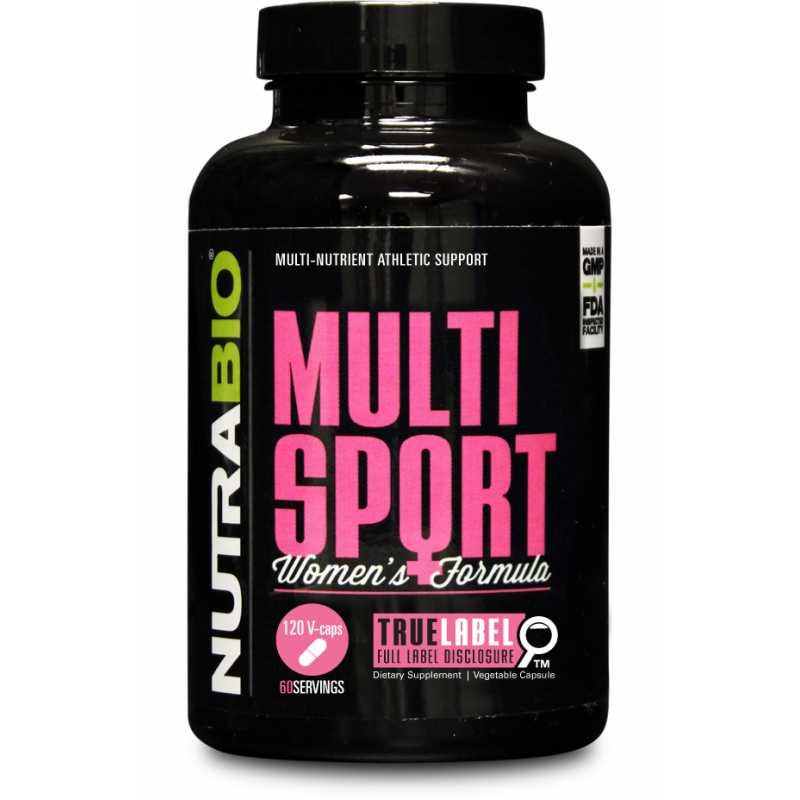 NutraBio MultiSport for Women - 120 Vegetable Capsules