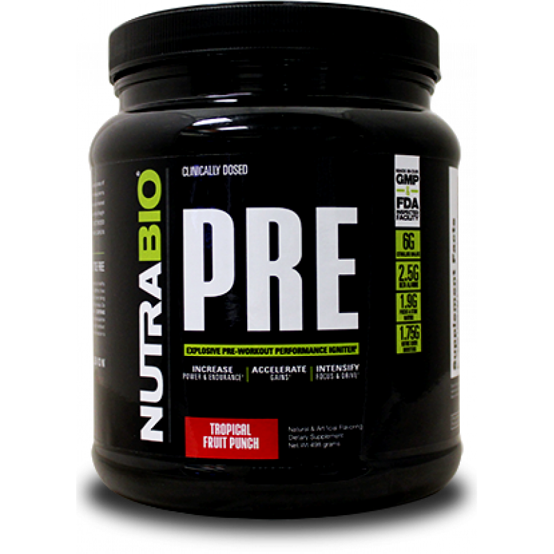 NutraBio PRE Workout - 20 Servings