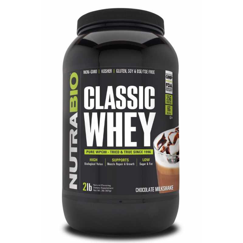 NutraBio Classic Whey 浓缩乳清蛋白粉 - 2磅