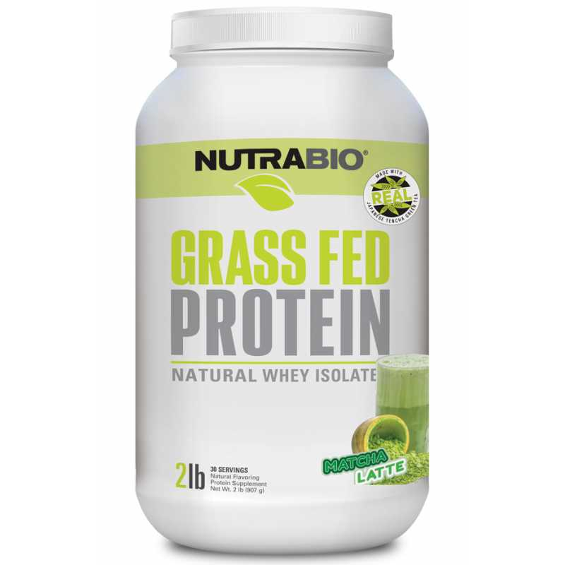 NutraBio Grass Fed Whey Isolate 草飼牛乳清分離蛋白 - 2磅