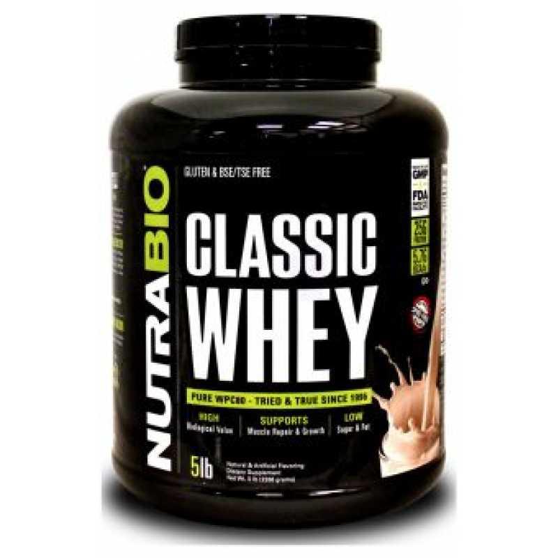 NutraBio Classic Whey 濃縮乳清蛋白粉 - 5磅