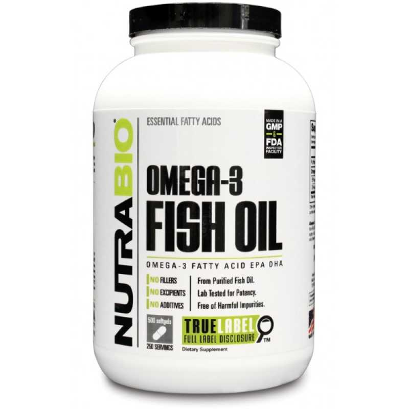 NutraBio Omega 3 Fish Oil - 150 Softgels