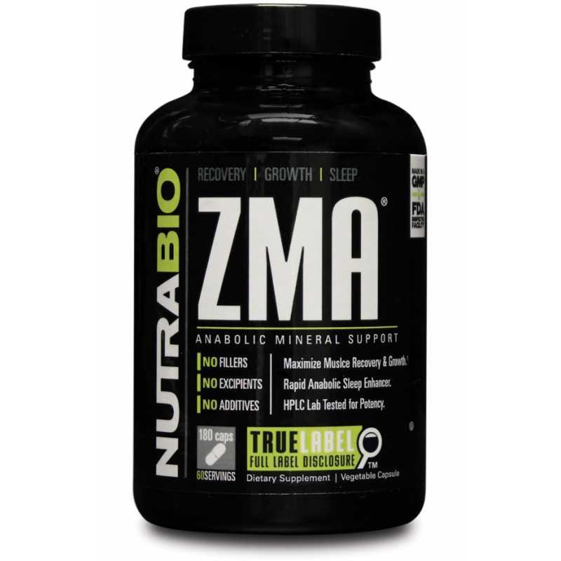 NutraBio ZMA 鋅鎂片促進睡眠  - 180粒蔬菜膠囊