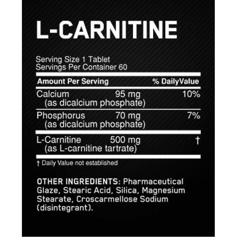 Optimum Nutrition L-Carnitine 左旋肉鹼 - 60片