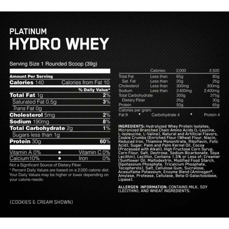 Optimum Nutrition Platinum Hydro Whey - 3.5lbs