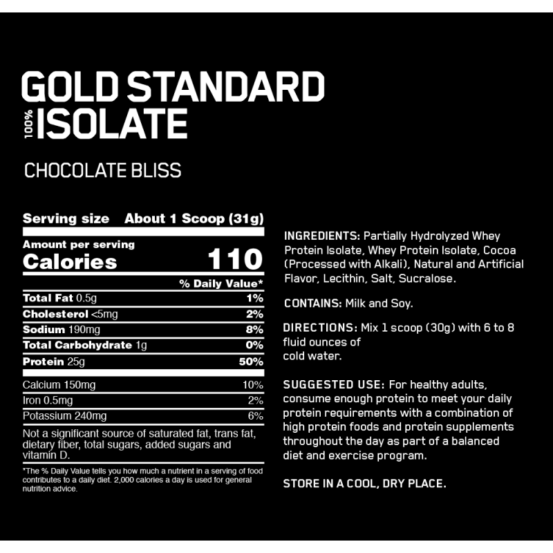 Optimum Nutrition Gold Standard 100% Isolate - 5lbs