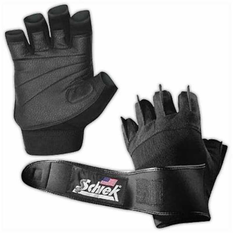 Schiek Platinum Lifting Gloves With Wrist Wraps