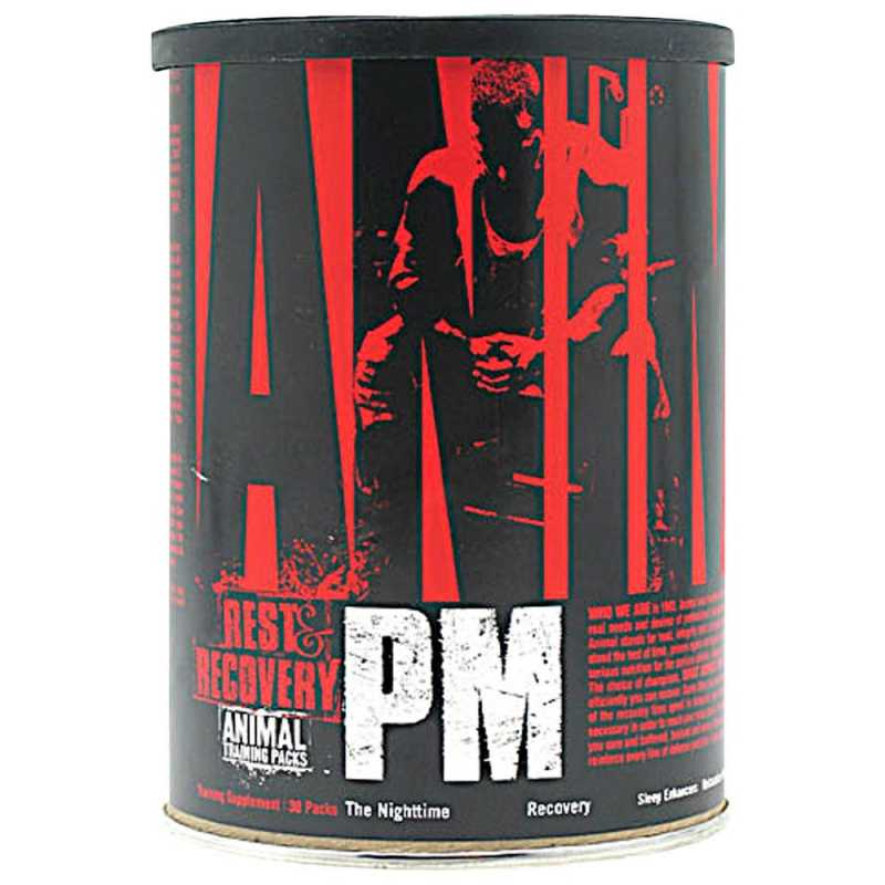 Universal Nutrition Animal PM 夜間迅速恢複深度睡眠 - 30包
