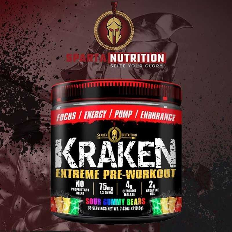 Sparta Nutrition Kraken Extreme Pre-Workout 海怪氮泵 - 40份